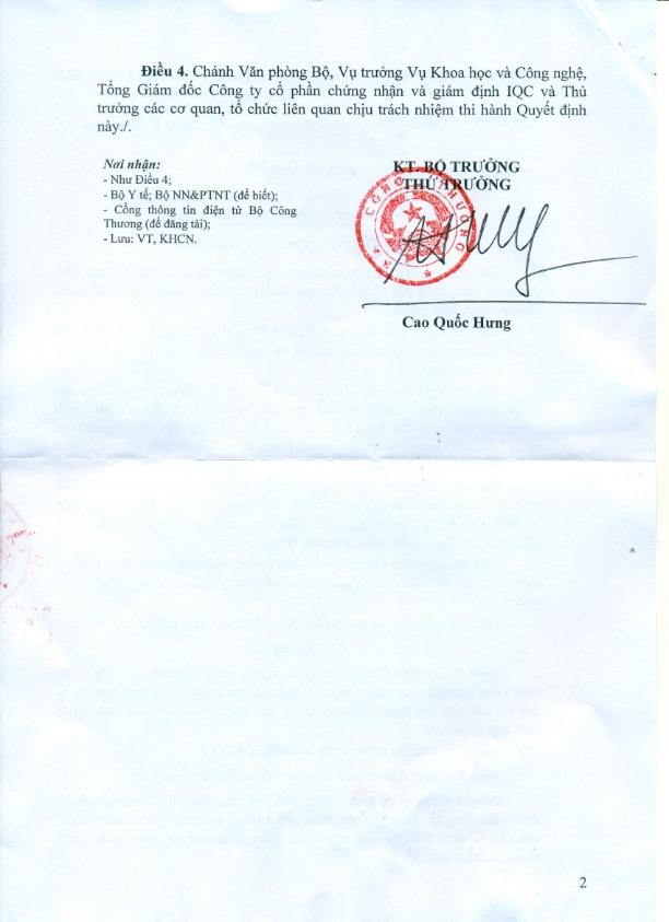 2899. Quyet dinh chi dinh co so kiem nghiem thuc pham BCT_002